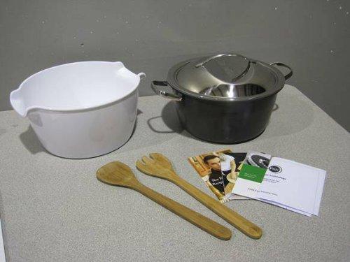 Todd英語GreenPan 5 pcホットポットシステム – Thermolon 5 Quartホットポットstart-to-finish Cookingシステム(ホワイト) B00IA4XNZM