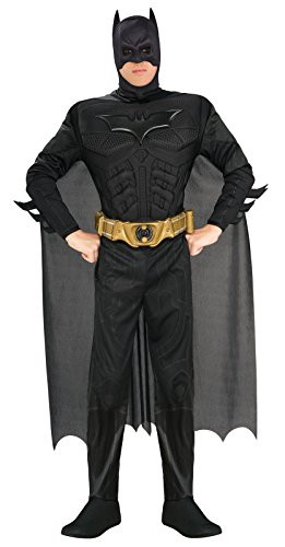 Batman The Dark Knight Rises Adult Batman Costume, Black, -