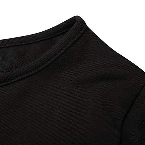 Nero Camicia Lunga Tinta Xmiral Manica A Punta Tonda Donna Unita zxwOqnfH7