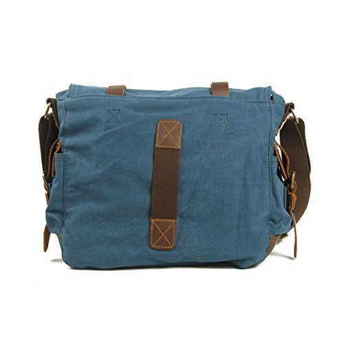 Bags Bag Satchel Military Messenger Vrikoo Sports School Canvas Crossbody Vintage Azul Shoulder Casual blue 0fcWPT