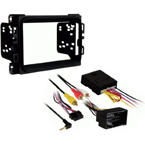 (Metra 95-6518B Double DIN Stereo Installation Dash Kit for 2013 Dodge Ram & Interface)