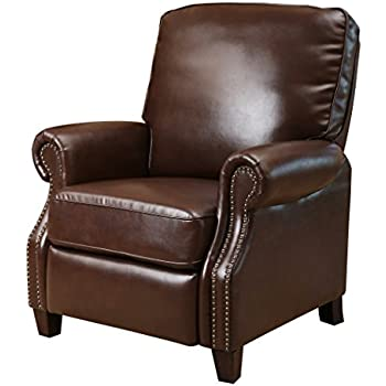 push brown ac l abbyson recliner com kitchen dark queen dp brylanehome tufted amazon leather cliff wingback anne back