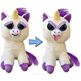 Feisty Unicorn by Feisty Pets Expressions, William Mark – Glenda Glitterpoop, Silly - A Cute, Plush Stuffed Pet Animal That Sticks Her Tongue Out With a Squeeze - Perfect Toys For Friendly Mischief