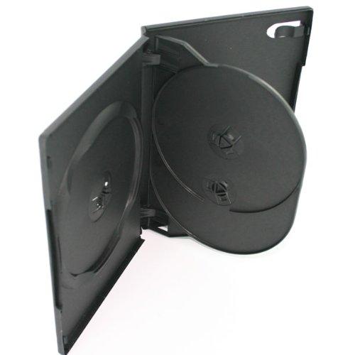 14mm 3 Disc Black DVD Cases 100 Pack - #DV3R14WTBK by Generic