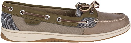 Sider Boat Mesh Sperry Breton Olive Women's Taupe Shoe Top Angelfish Stripe 5AAxqFOT
