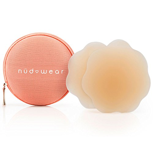 Nudwear Women's Daisies Waterproof Nipple Covers, Nude, One Size