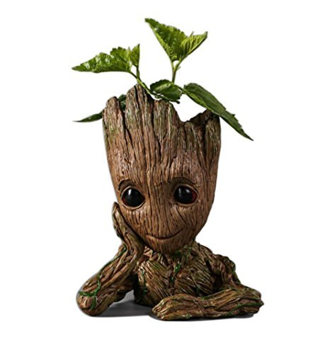 Guardians of The Galaxy Action Figures Baby Model Pen Holder Flowerpot Best Gift 6.3""