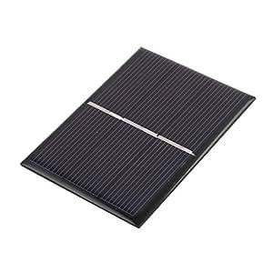 sourcing map 80mm x 60mm 0,65 vatios 1,5 voltios Módulo del Panel de Células Solares Policristalino