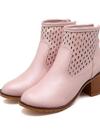 Sintético Cn43 Punta Moda Azul Xzz Eu42 Vestido De Mujer Pink 5 Exterior Kitten Tacón us10 Cuero Redonda negro 5 Zapatos Casual Uk8 A Botas La SqXZqwvf