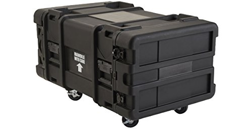 SKB 6U Industrial Shock Rack, 28 deep x 14 high, Fits Dell Servers with Square Holes or Large Round Rack Mount Holes