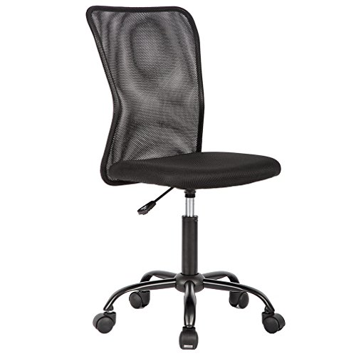 BestOffice Home Office Chair Desk Ergonomic Computer Executive Modern Student Task Adjustable Swivel High Back Wide Comfortable Mesh Stool with Metal Base for Man Women, Armless, ()