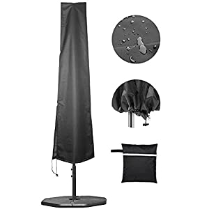 Umbrella Covers,Patio Waterproof Market Parasol Covers with Zipper for 7ft to 11ft Outdoor Umbrellas Large
