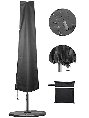 Umbrella Covers,Patio Waterproof Market Parasol Covers with Zipper for 7ft to 11ft Outdoor Umbrellas Large (Deck Umbrella Costco)