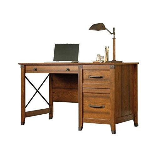 Sauder 412920 Carson Forge Desk, L: 53.19'' x W: 22.64'' x H: 29.8, Washington Cherry by Sauder
