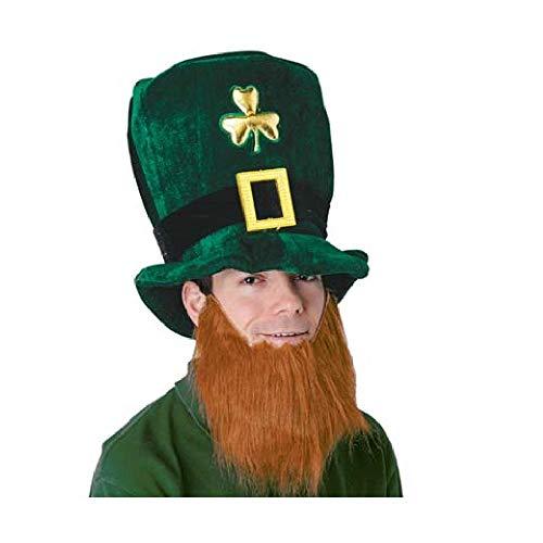 Bargain World Plush Leprechaun Hat w/Beard (with Sticky Notes) (Leprechaun Plush Hat)