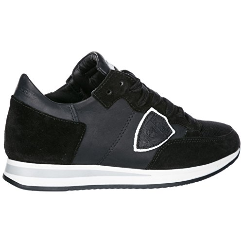 Femme Noir Philippe Chaussures Model en Baskets Tropez Sneakers Daim RBpqTB