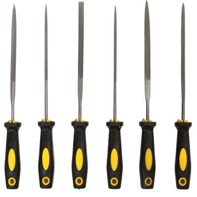 6pc Coarse Grit Precision Hobby File Tool Set Sharpening Knives Blades & Saws