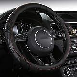 SHAKAR Fashion Steering Wheel Covers-Tire Track Steering Covers,Universal 15 inch (tirebla)