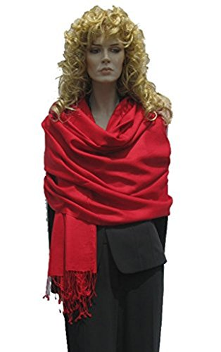 Cashmere Pashmina Group: Solid Pashmina Shawl, Scarf, Wrap & Stole (Large size) Indian Maroon