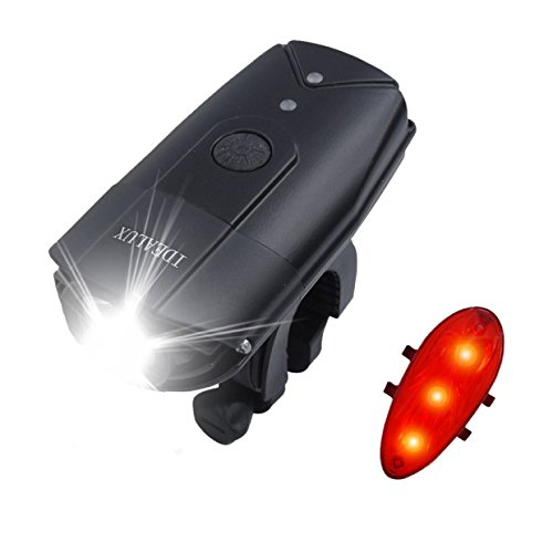 IDEALUX LED Bike Lights Front And Back, USB Rechargeable Bike Light Set, 900 Lumens Super Bright Bicycle Lights, Bike Headlight, IP65 Waterproof, Free Tail Light and Helmet Mount Include