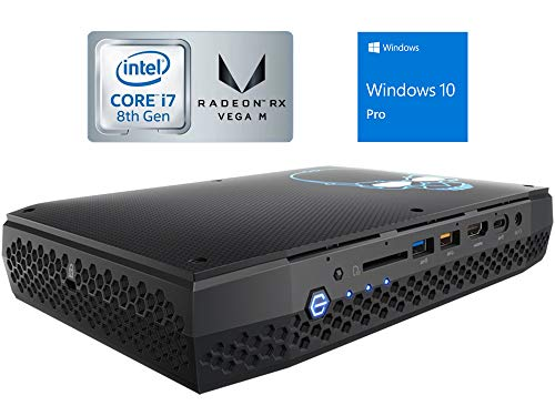 Intel NUC NUC8I7HVK Mini PC/HTPC, Intel Quad-Core i7-8809G Upto 4.2GHz, 16GB DDR4, 120GB NVMe SSD, AMD Radeon RX Vega M GH, 4k Support, Dual Monitor Capable, WiFi, Bluetooth, Windows 10 Pro 64Bit