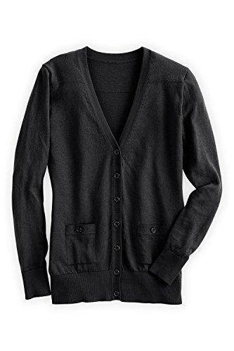 Fair Fashion Trade (Fair Indigo Fair Trade Organic Boyfriend Cardigan (XS, Black))