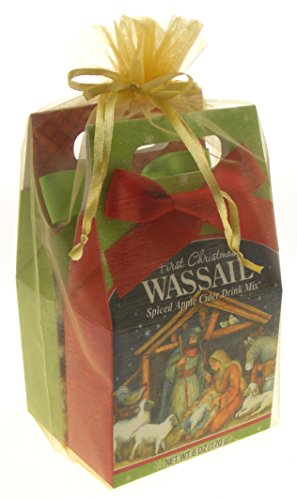Spiced Apple Cider Wassail Gift Set Bundle - Three Kings & First Christmas Holiday Nativity Scene