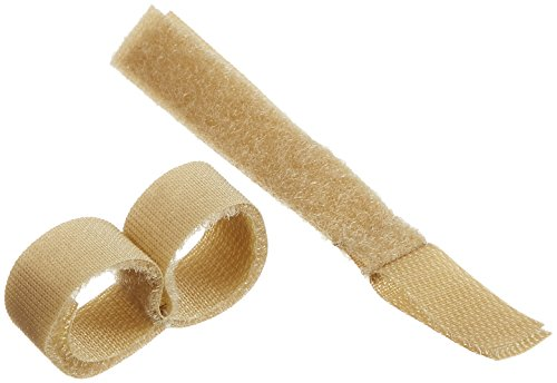 """Rolyan Buddy Straps, 5/8"""" Hook and Loop Straps for Finger Injuries, Alternative to Finger Splint for Athletic Injuries, Stabilize Two Fingers with Separator in Between, Pack of 10 Strapping Tape"""