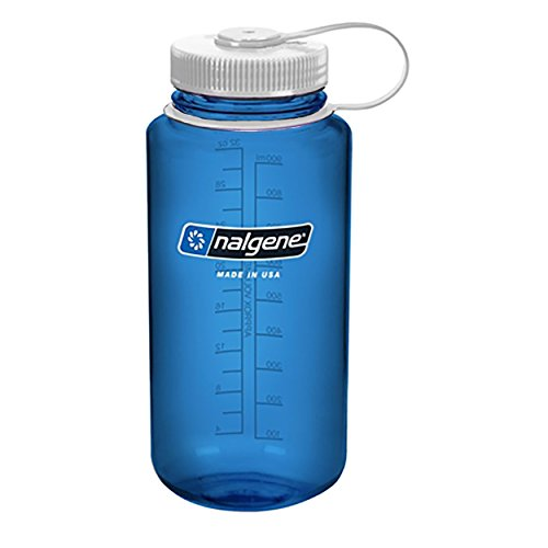 NALGENE Tritan Wide Mouth 32oz Water Bottle - Blue w/ White Cap
