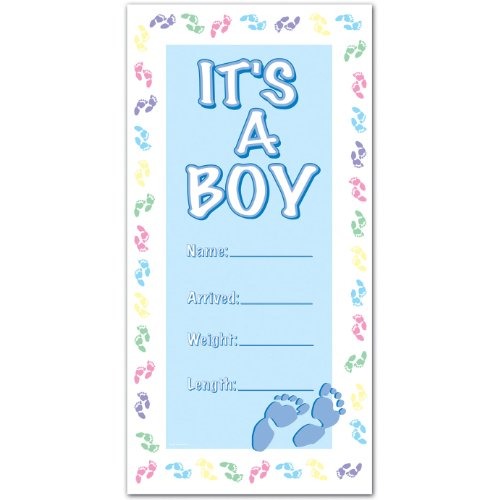 It's A Boy Door Cover Party Accessory (1 count) (1/Pkg)