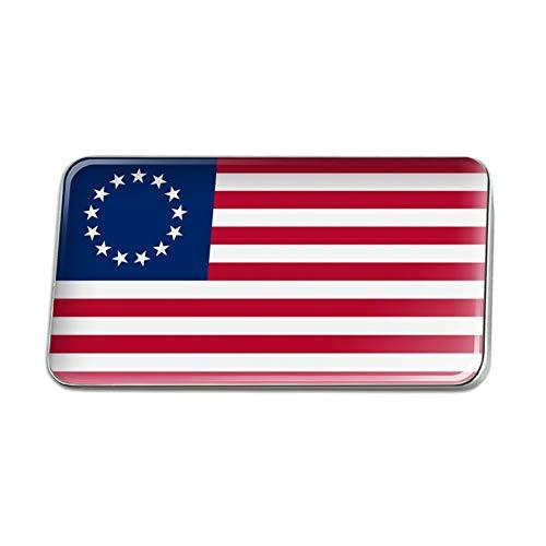 (GRAPHICS & MORE Betsy Ross 1776 American Flag Metal Rectangle Lapel Hat Pin Tie Tack Pinback)