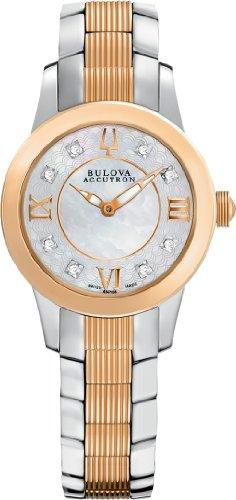 Bulova Accutron Ladies' Masella 8-Diamond Two-Tone Dress Watch, 65P106