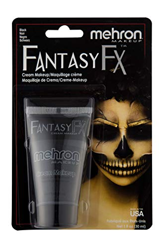 Mehron Makeup Fantasy F/X Water Based Face & Body Paint (1 oz) (BLACK)