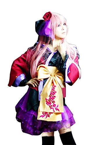 Vocaloid Magnet Costume (Mtxc Women's Vocaloid Cosplay Costume Megurine Luka Magnet Kimono Size Small Red)