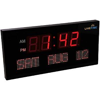 Amazoncom AcuRite 75127 Oversized LED Clock with Indoor