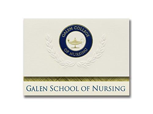 Signature Announcements Galen College of Nursing Graduation Announcements, Platinum Style, Basic Package 20 with Galen School of Nursing Seal - Presents For Graduates College