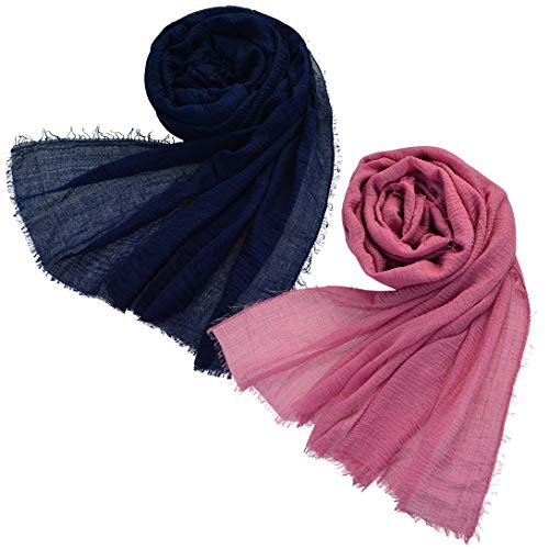 extra long cotton scarf - 3