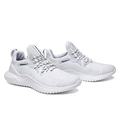 Basse Bianca All'aperto Corsa Scarpe Sportive Jindeng Running Sneakers Fitness Da Ginnastica Respirabile Uomo a Mesh q1vwzOZ
