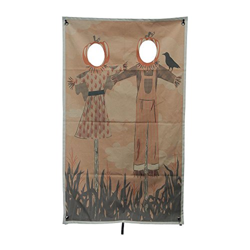 Martha Stewart Living Perfect Photo Op 72.75 in. Scarecrow Friends Photo Banner with Face Holes, Great for Halloween Parties,Hangs in a Doorway or Other Open Space, Durable and Strong (Halloween Photo Op Cutouts)