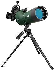 Svbony SV28 Spotting Scope 20-60x60 Compact BAK4 Prism Beginners Monoculair Telescoop Breed Gezichtsveld Statief Telefoon Adapter Spotting Scope voor het observeren van vogels
