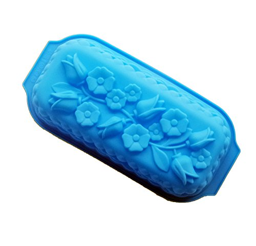 Yunko Roses and Flowers Rectangle Baking Fancy and Function Bakeware Collection Cake Pan and Mold Loaf Pan,12.5 Inches