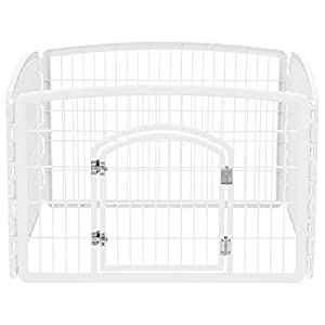 IRIS USA 4-Panel Pet Playpen with Door, Size 35.25″ L x 35.25″ W x 24″ H CI-604 Click on image for further info.