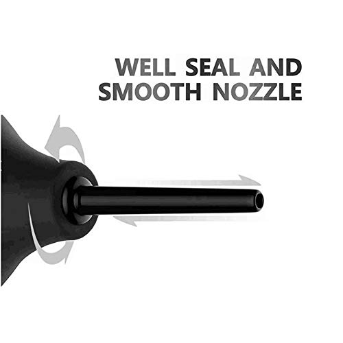 1Pcs 220ML/7OZ Black Unisex Soft and Safe Silicone Straight Nozzle Reusable Bulb Shape Enemator Vaginal Syringe Anal Douche Intestinal Cleaner for Adluts by XINGZI (Image #3)