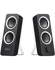 Logitech Z200 Stereo Speakers, Głośniki Komputerowe, Bogaty Dźwięk Stereo, 3.5 Mm, Pc/Mac/Tablet/Smartphone - Czarny,980-000810