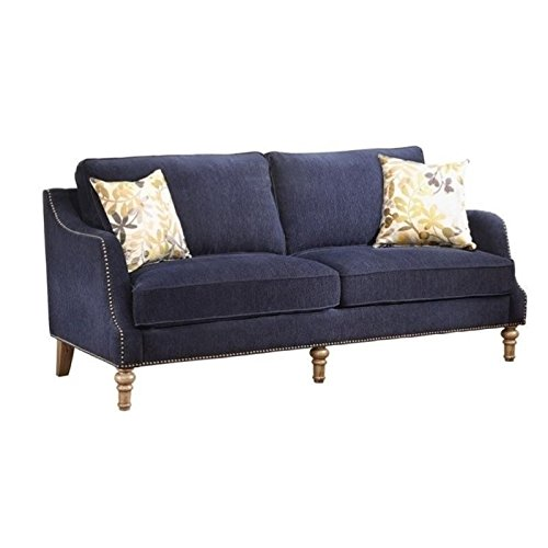 Bowery Hill Upholstered Sofa in Blue