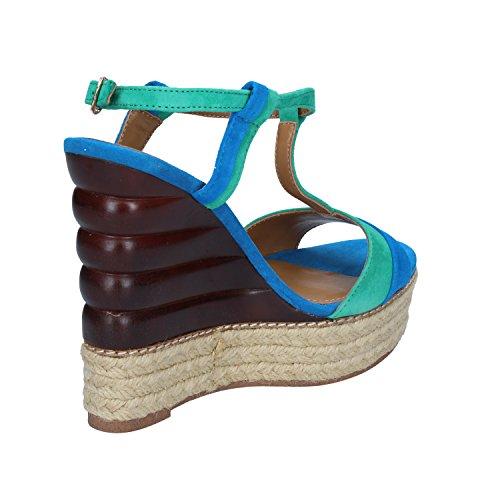 Femme VEE Blu Pour Verde Sandales EMANUELLE wFq0xdt0