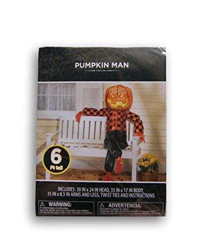(Halloween Outdoor Decor - Pumpkin Scarecrow Man - 6)