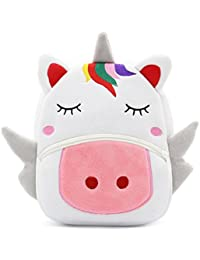 Cute Toddler Backpack Toddler Bag Plush Animal Cartoon Mini Travel Bag for Baby Girl Boy 2-6 Years