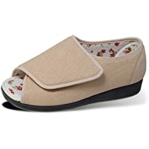Womens Open Toed Sandal Shoes With Adjustable Fasteners - Wide Width