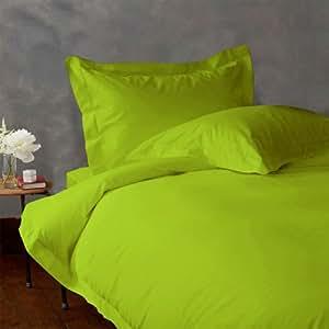 Lacasa Bedding Factory Packed 100 Percent Egyptian Cotton Duvet Set 600 TC Solid (Cal-Queen , Parrot Green )